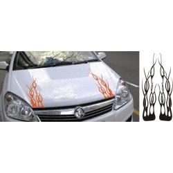 Flammen Aufkleber für die Motorhaube