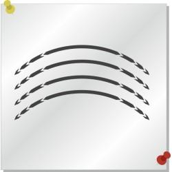 Felgenstreifen Design - 4 mal 4 Stück