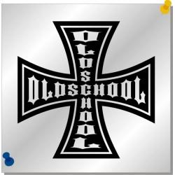Oldschool Eisernes Kreuz Autoaufkleber