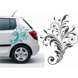 Blumen Autoaufkleber für die Fahrzeugseite